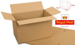Larger Postage Box - Royal Mail Small Parcel Size 450x350x160mm 25 Pack